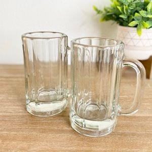 2 Pack Clear Glass Beer Mugs
